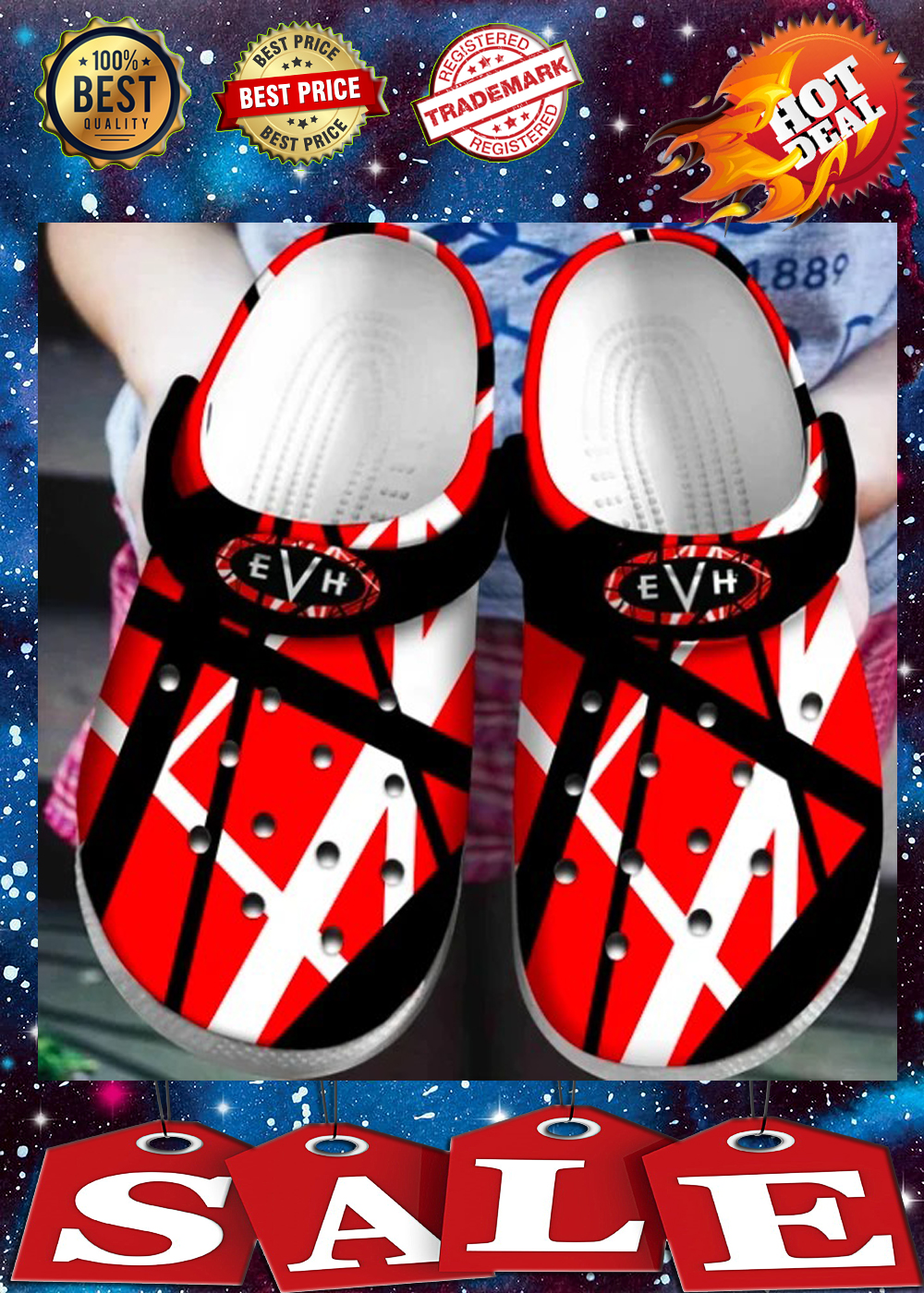 VAN HALEN crocs shoes 2