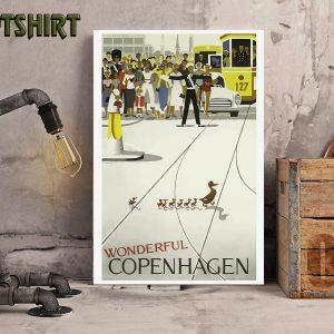 Van halencopenhagen vintage travel poster 2