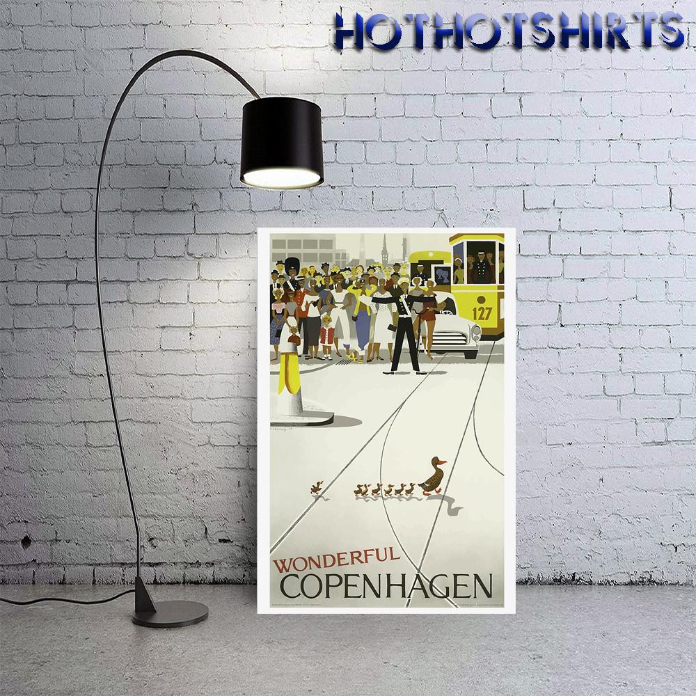 Van halencopenhagen vintage travel poster 4