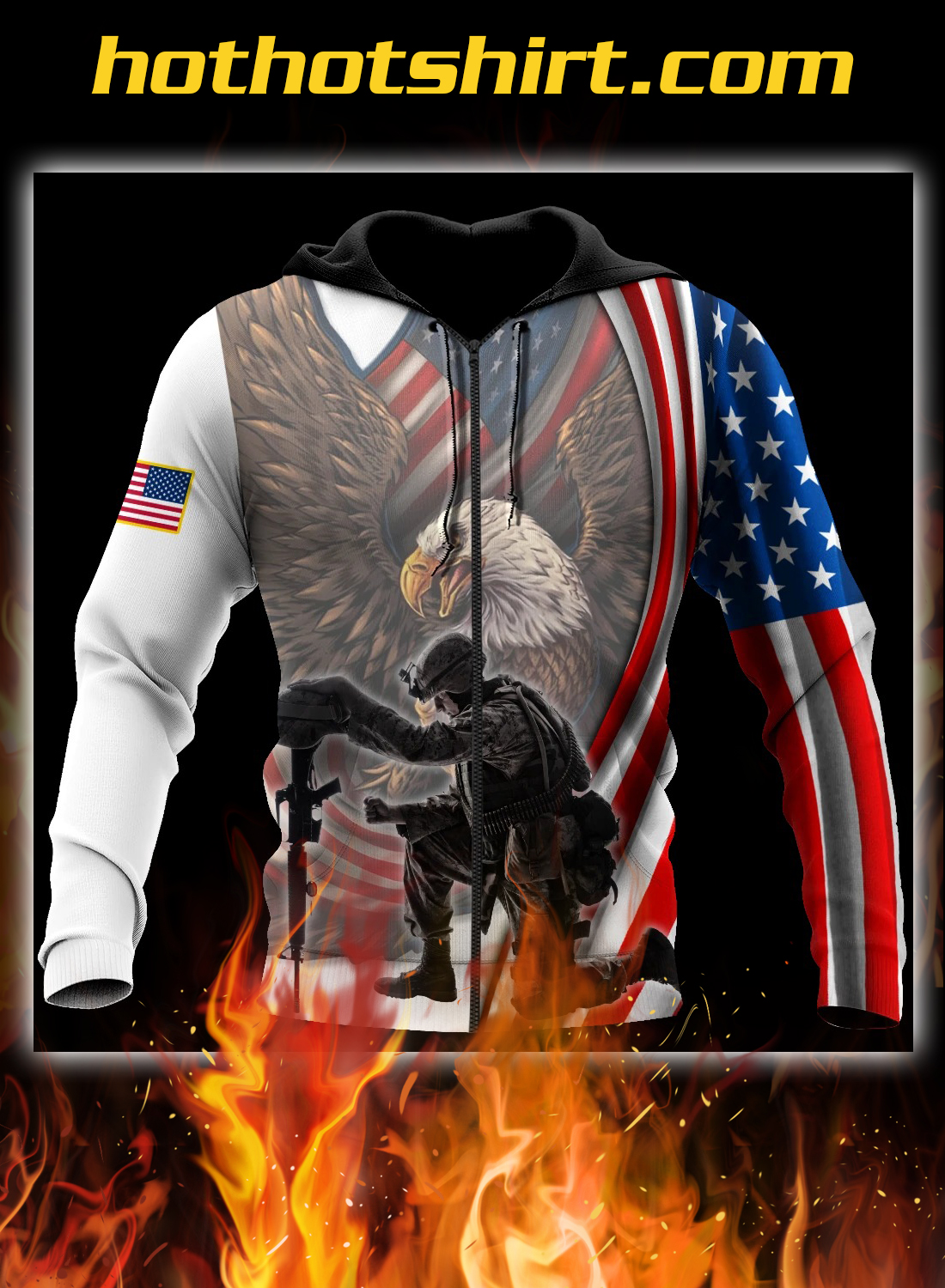 Veteran if you haven't risked coming home under a flag 3d all over printed hoodie 1