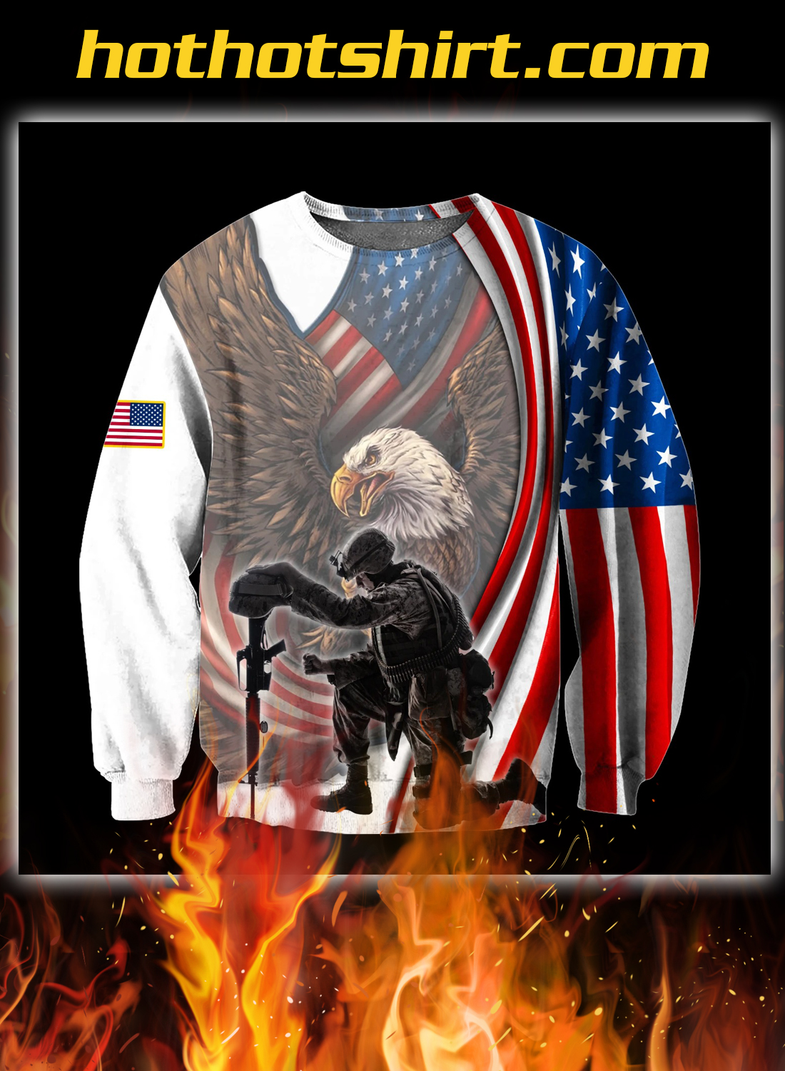 Veteran if you haven't risked coming home under a flag 3d all over printed hoodie 2
