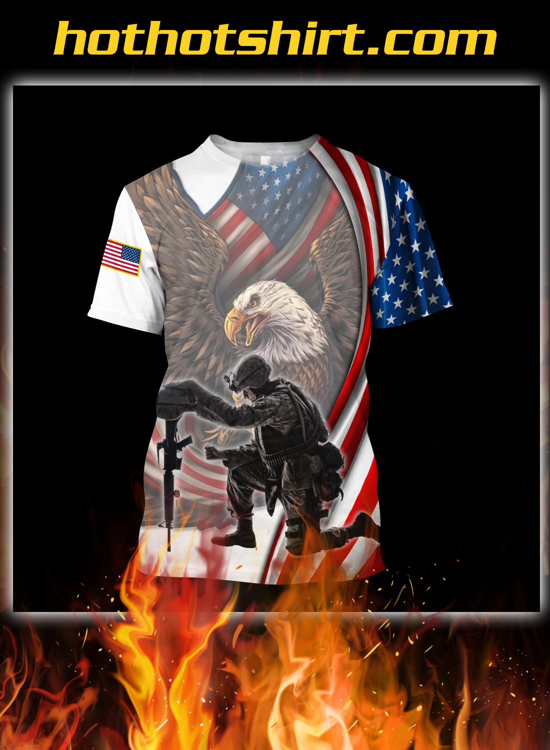 Veteran if you haven't risked coming home under a flag 3d all over printed hoodie 3