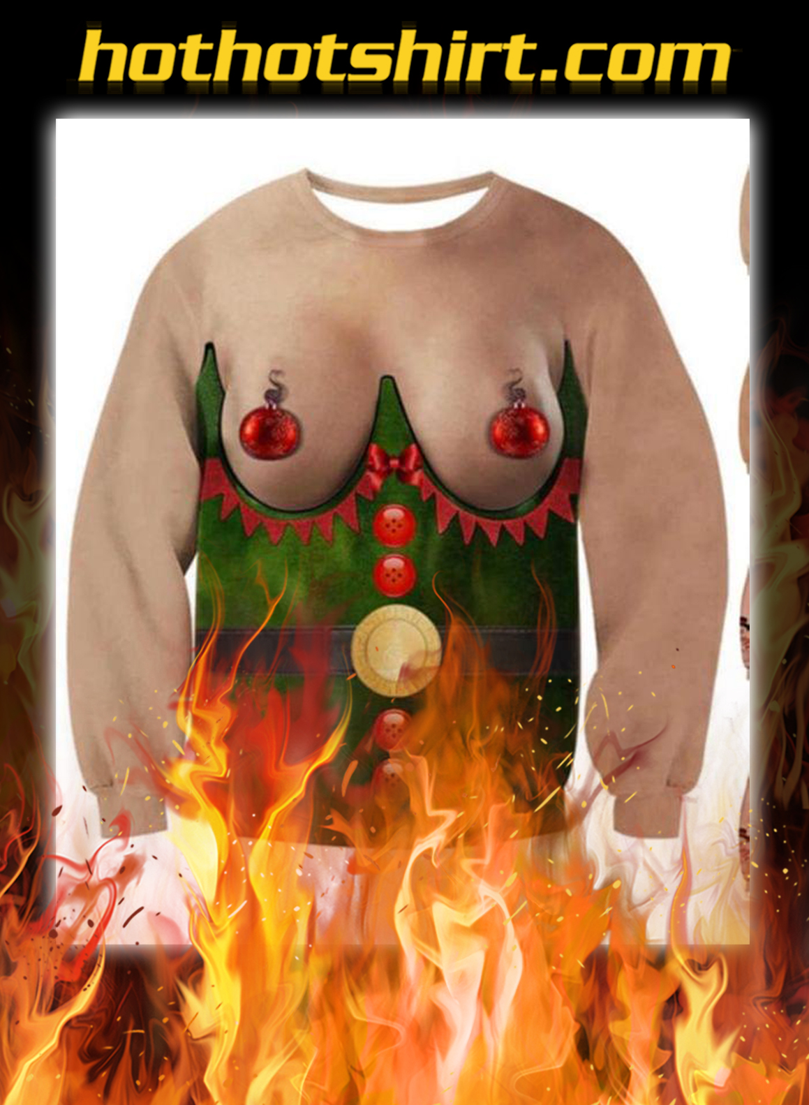 Women boobs ugly christmas sweater - pic 1