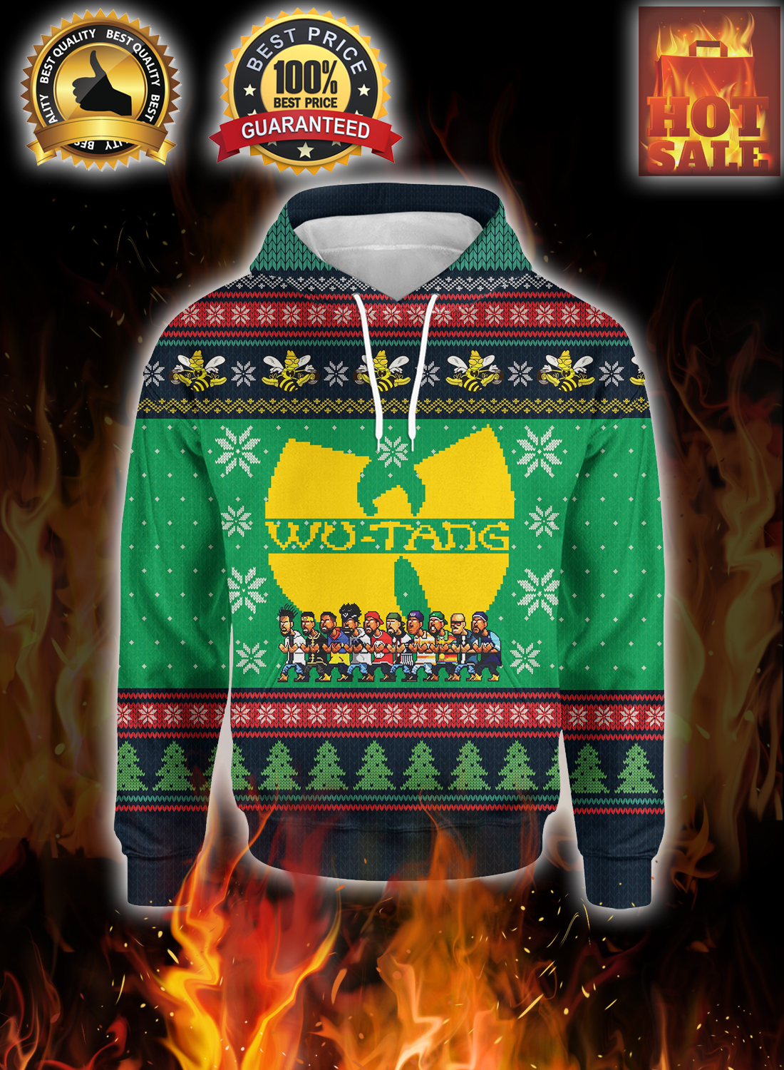 Wu-tang ugly christmas sweater 1