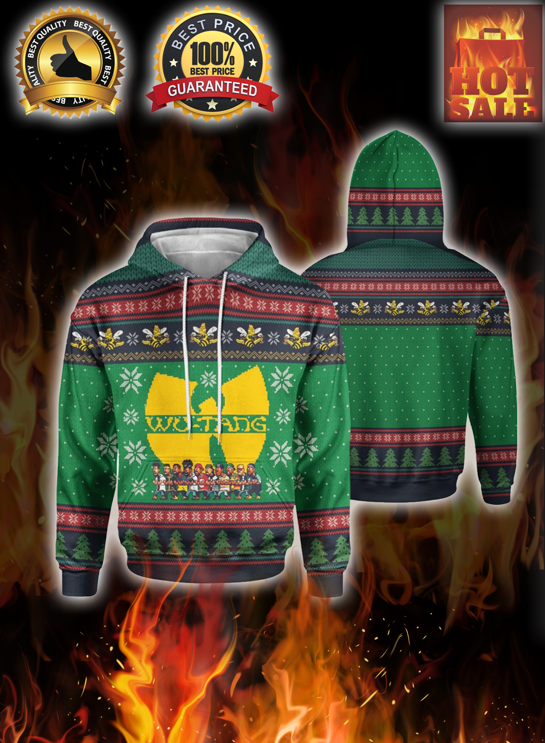 Wu-tang ugly christmas sweater