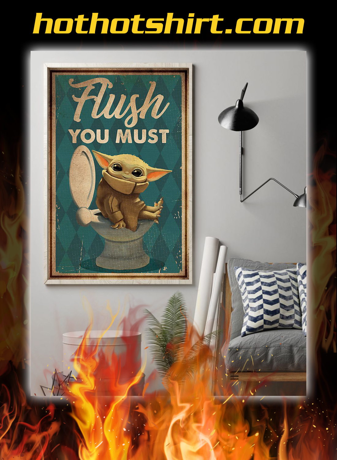 Yoda flush you must poster 1