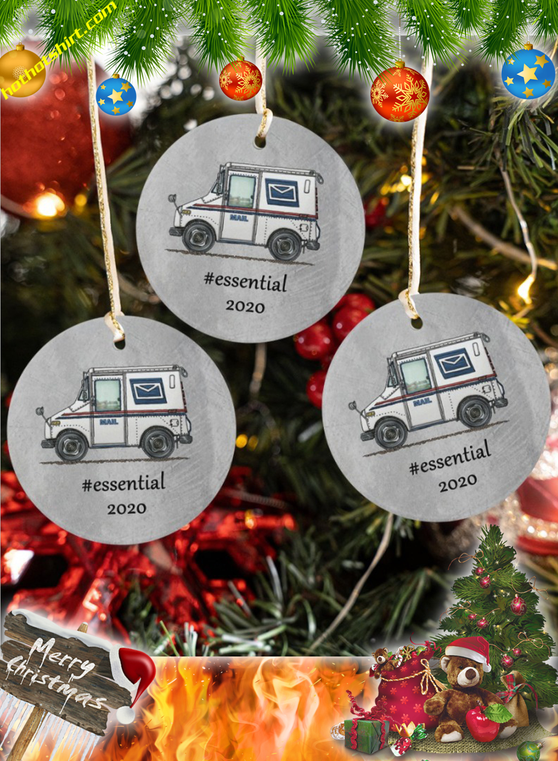 Postal Worker Mail Carrier Essential 2020 Ornaments