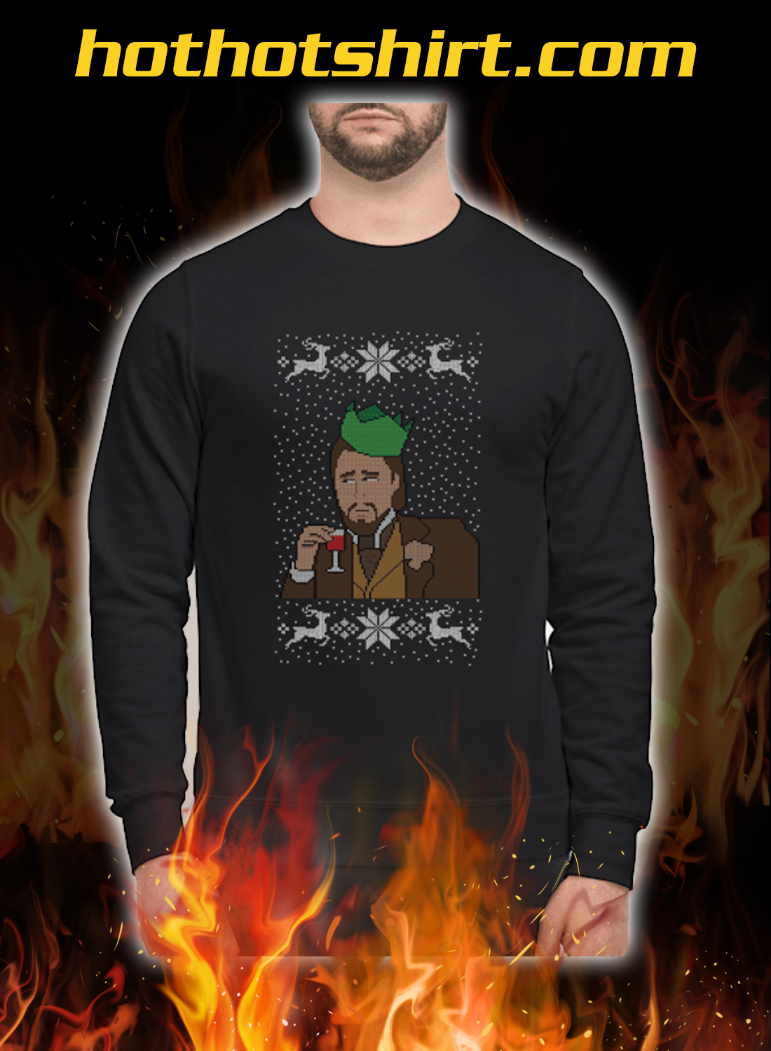 Leonardo DiCaprio christmas sweatshirt and jumper
