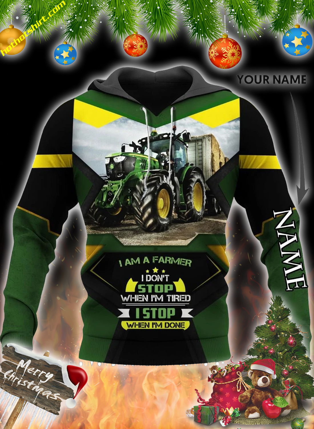 Agrimotor I'm a farmer personalized custom name 3d hoodie