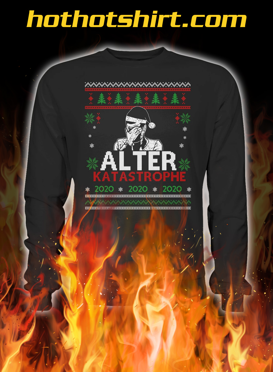 Alter katastrophe christmas ugly sweater and jumper
