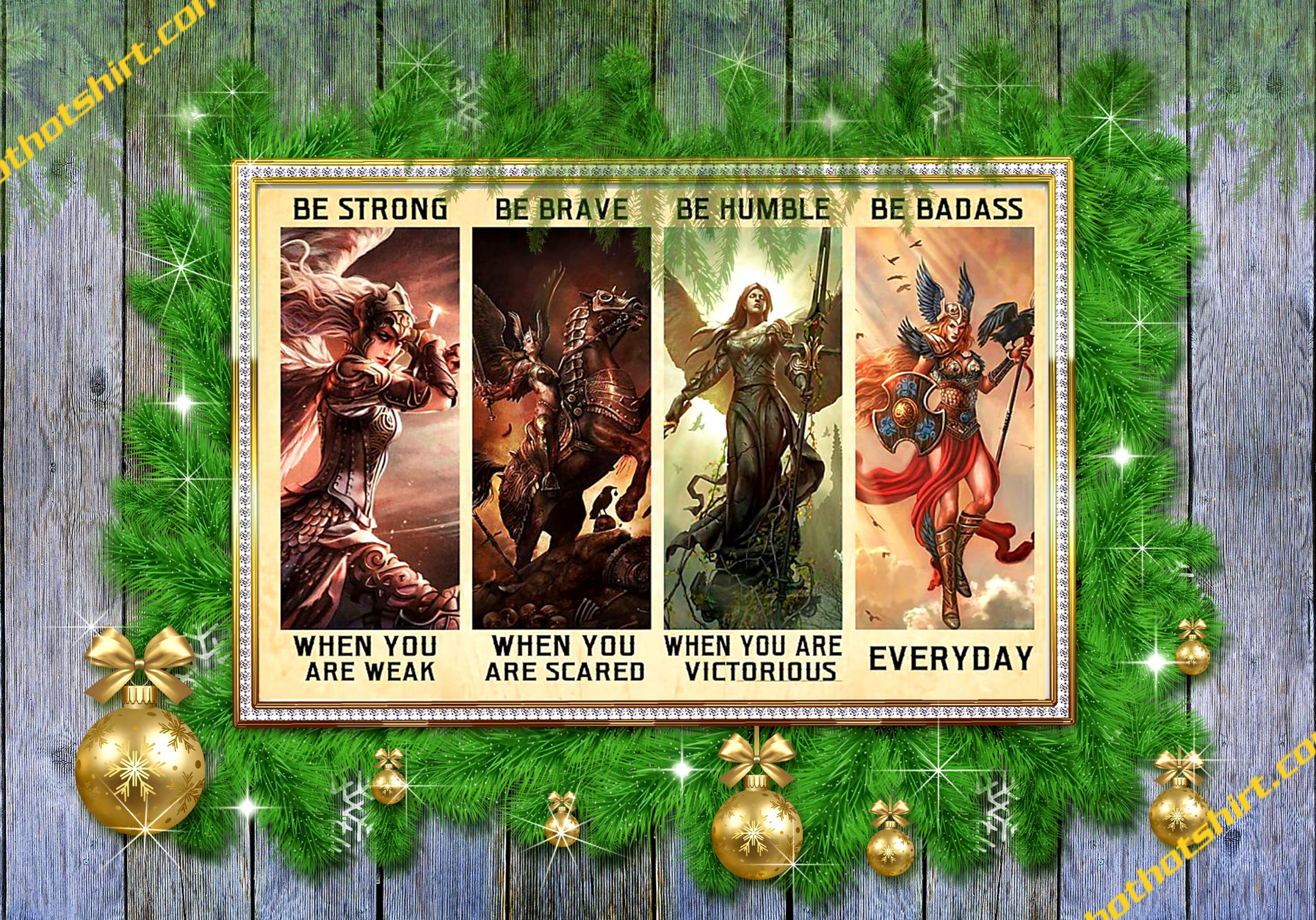 Angel warrior Valkyrie Be Strong Be Brave Be Humble Be Badass Poster 1