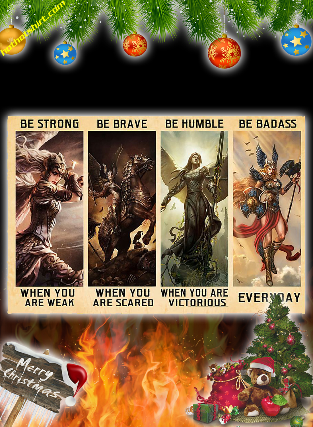 Angel warrior Valkyrie Be Strong Be Brave Be Humble Be Badass Poster 3