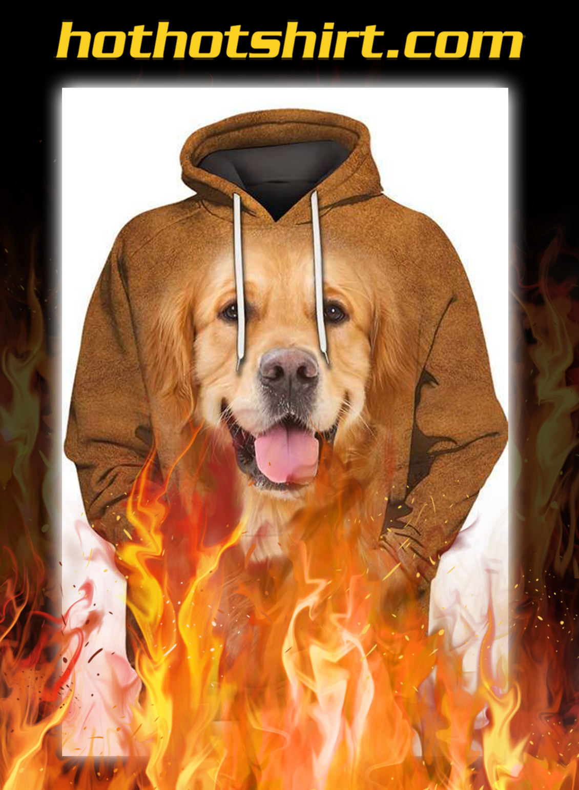 Animals Dogs Golden Retriever Hairy Unisex 3D Graphic Hoodies - pic 1