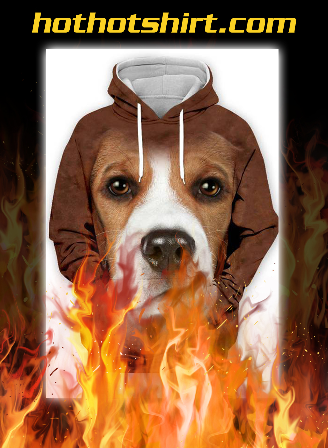 Animals dogs Beagle 3d hoodie - pic 1
