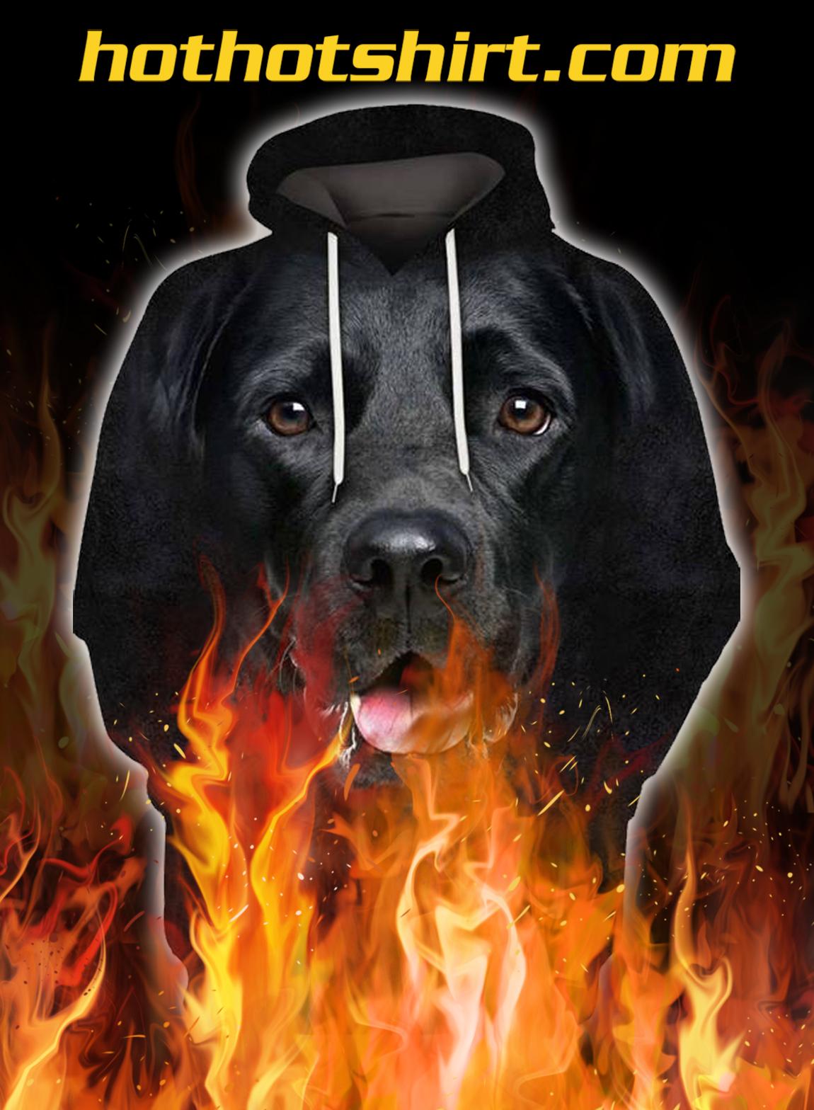 Animals dogs black labrador retriever 3d hoodie - pic 1