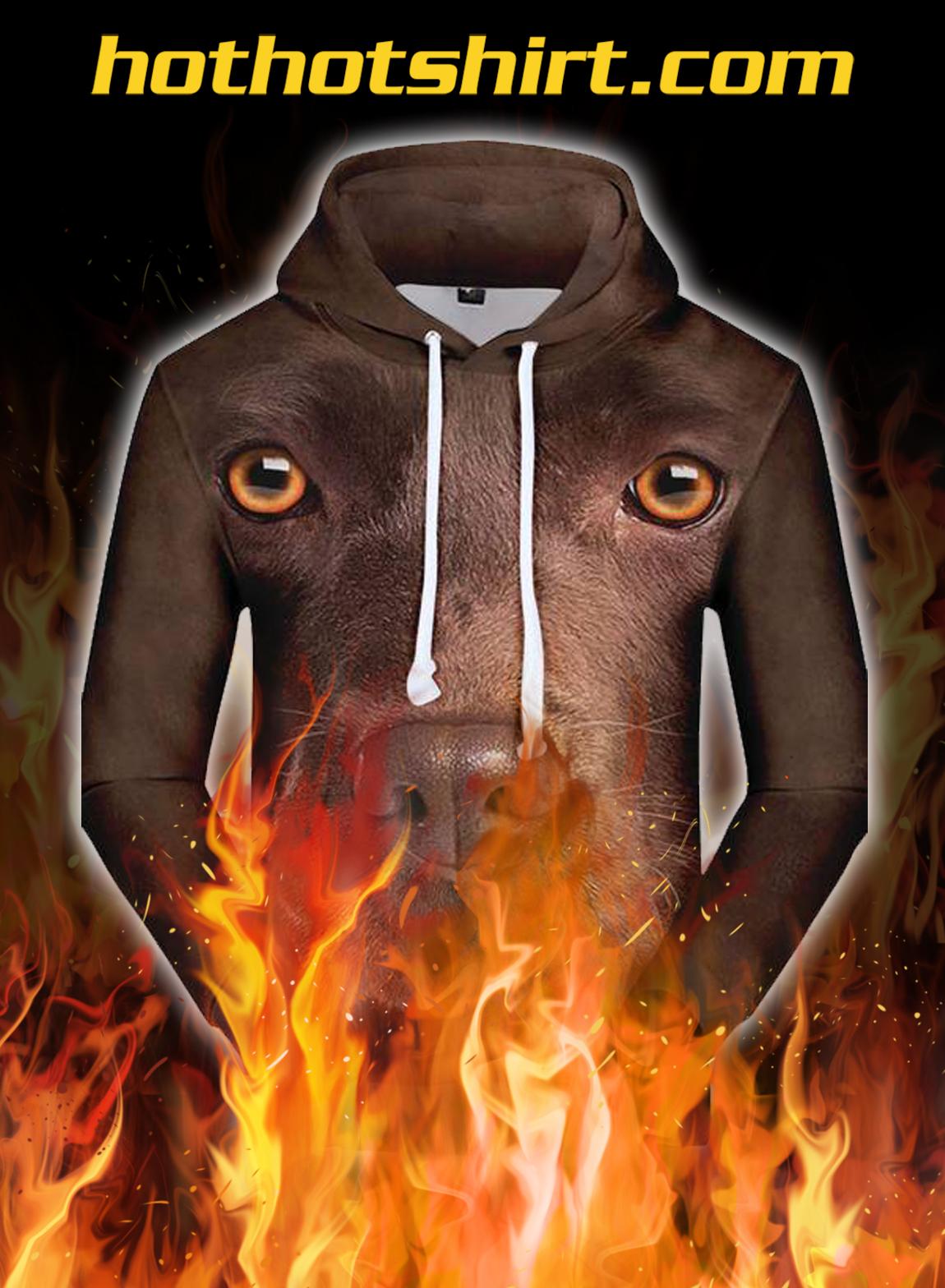 Animals dogs labrador retriever 3d hoodie - pic 1