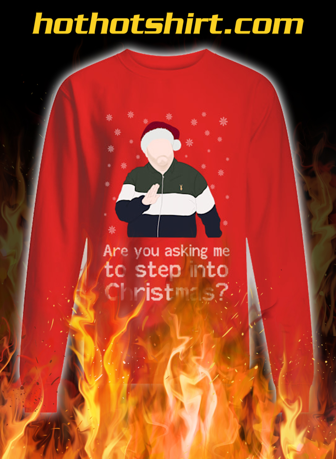 Are you asking me to step into christmas ugly sweater- red
