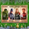 Avengers Marvel be strong be brave be humble be badass poster and canvas