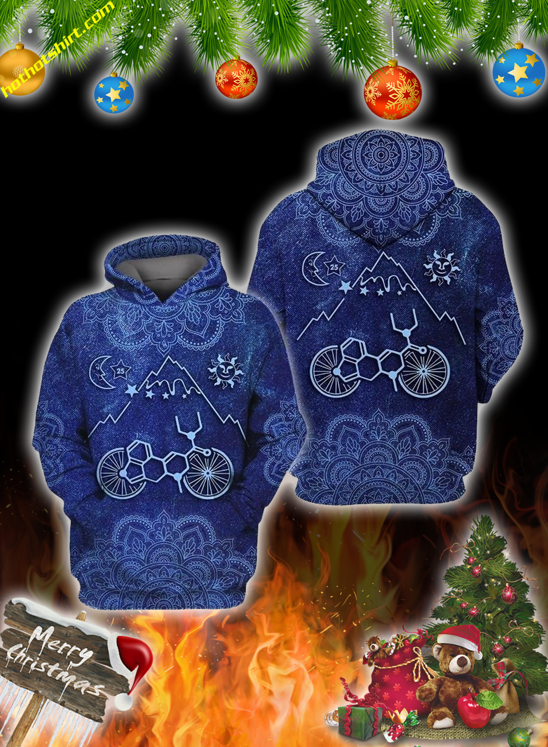 Bicycle take a trip 3d all over printed hoodie, shirt and sweatshirt