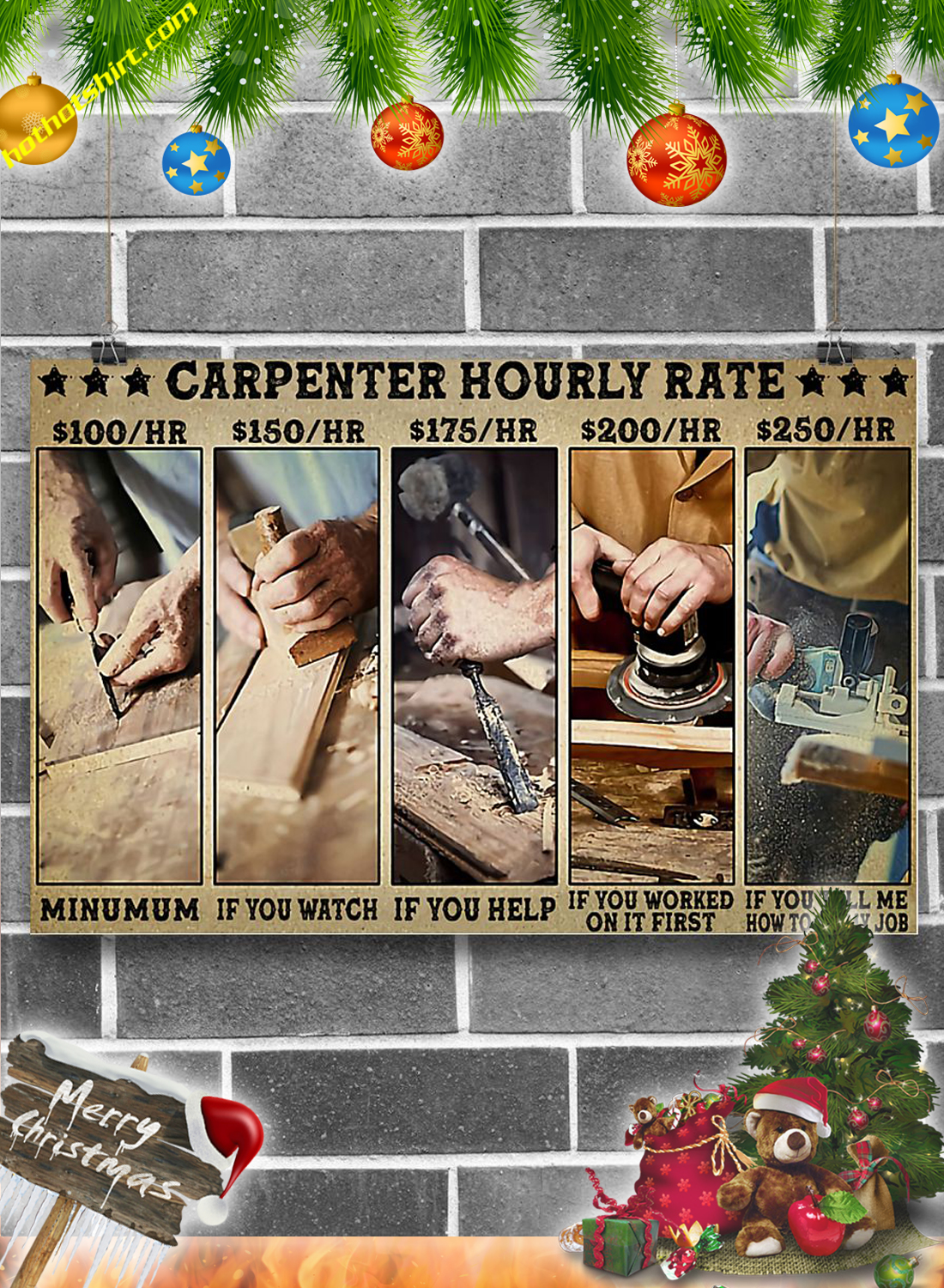Carpenter hourly rate poster 1