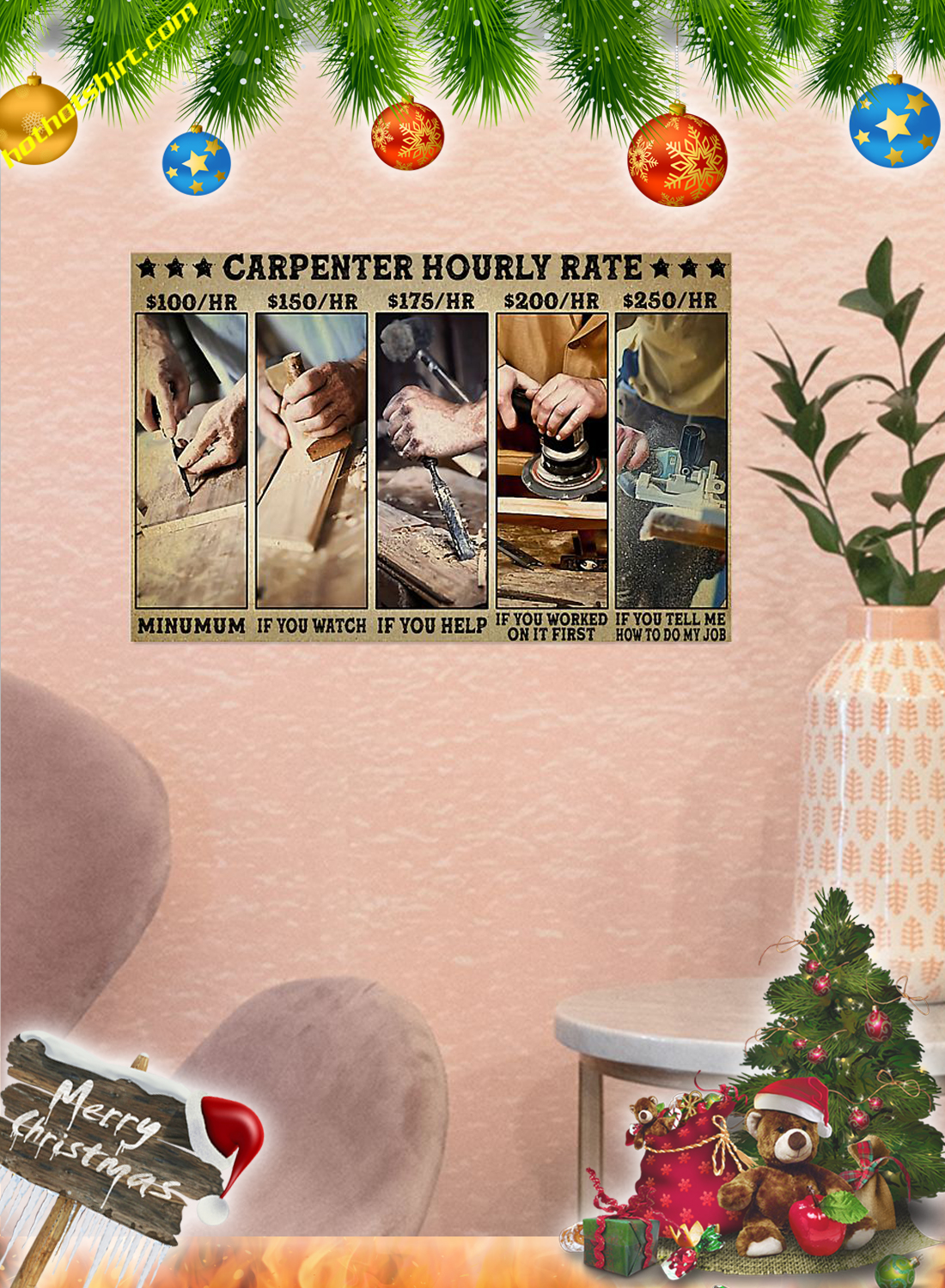 Carpenter hourly rate poster 2