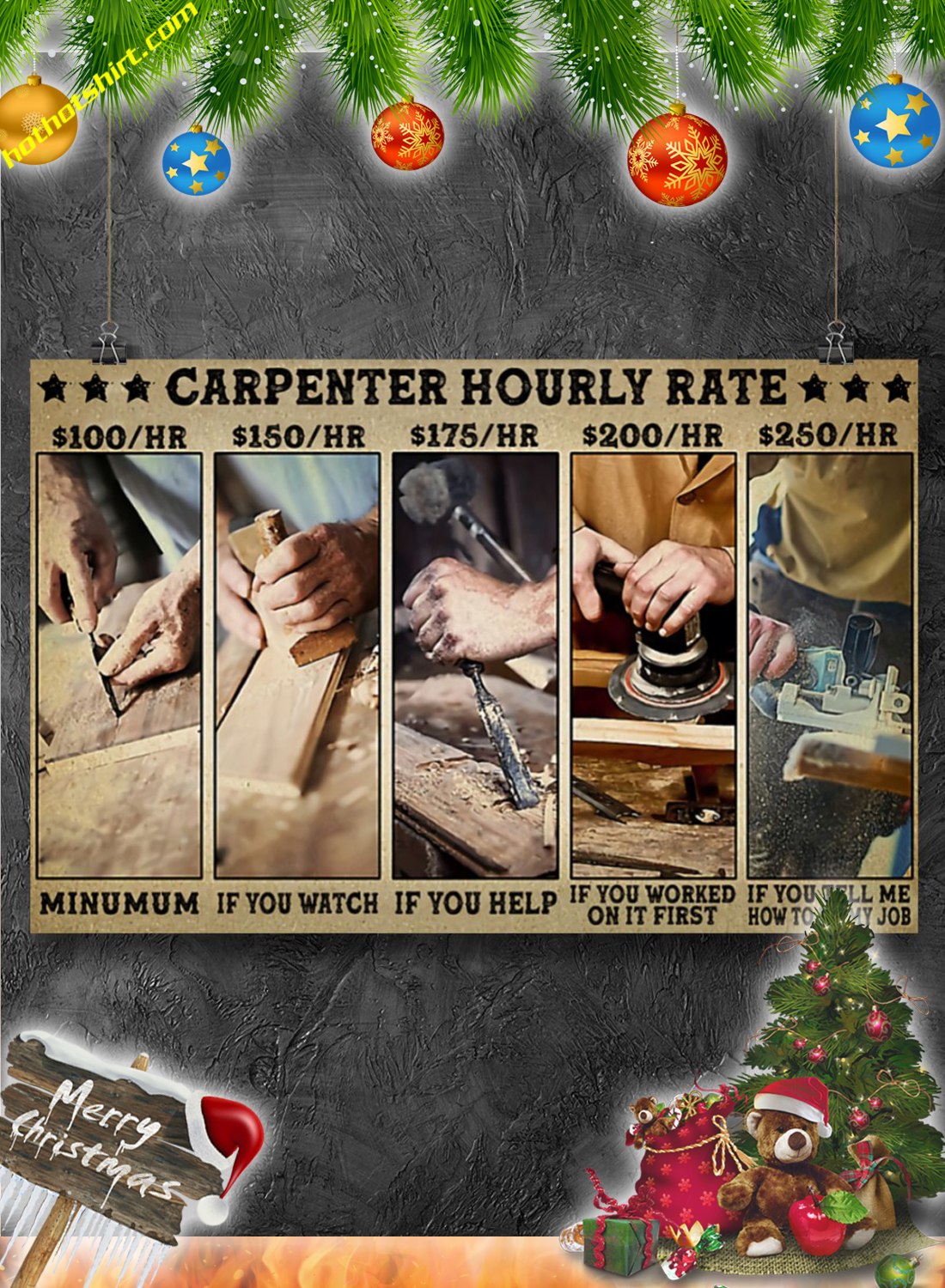 Carpenter hourly rate poster 3