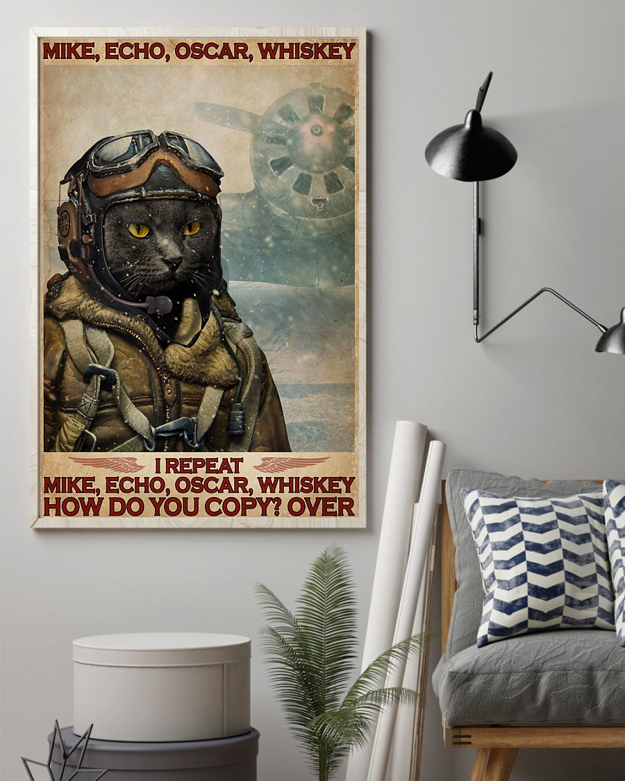 Cat mike echo oscar whiskey poster 1