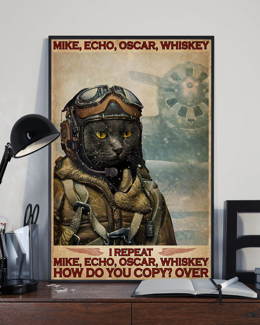 Cat mike echo oscar whiskey poster 2