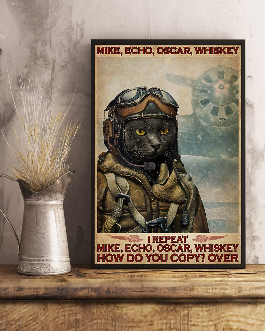 Cat mike echo oscar whiskey poster 3