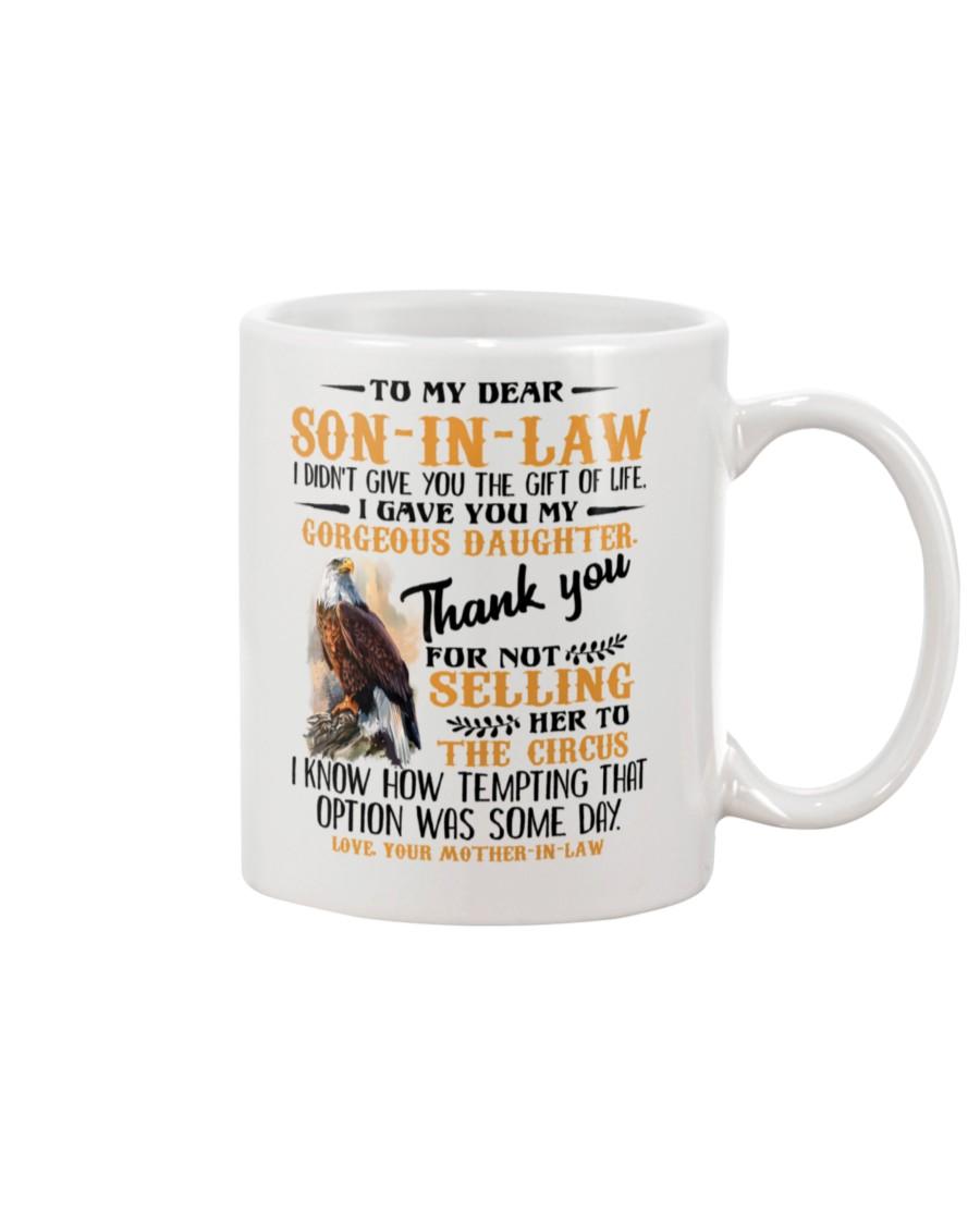 Eagle to my dear son-in-law mug
