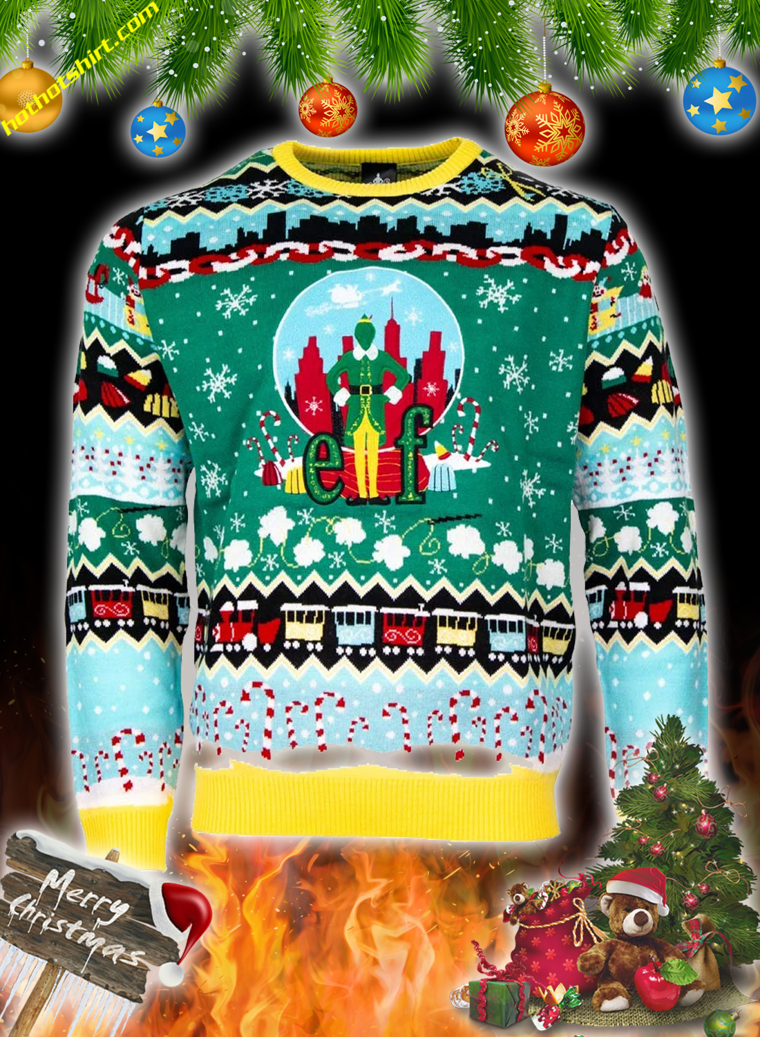 Elf christmas jumper and ugly sweater