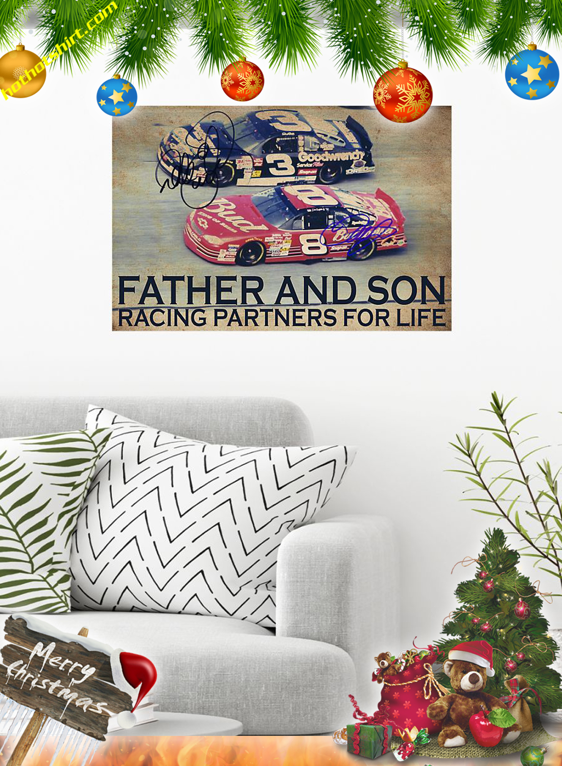 Father and son racing partners for life poster 1