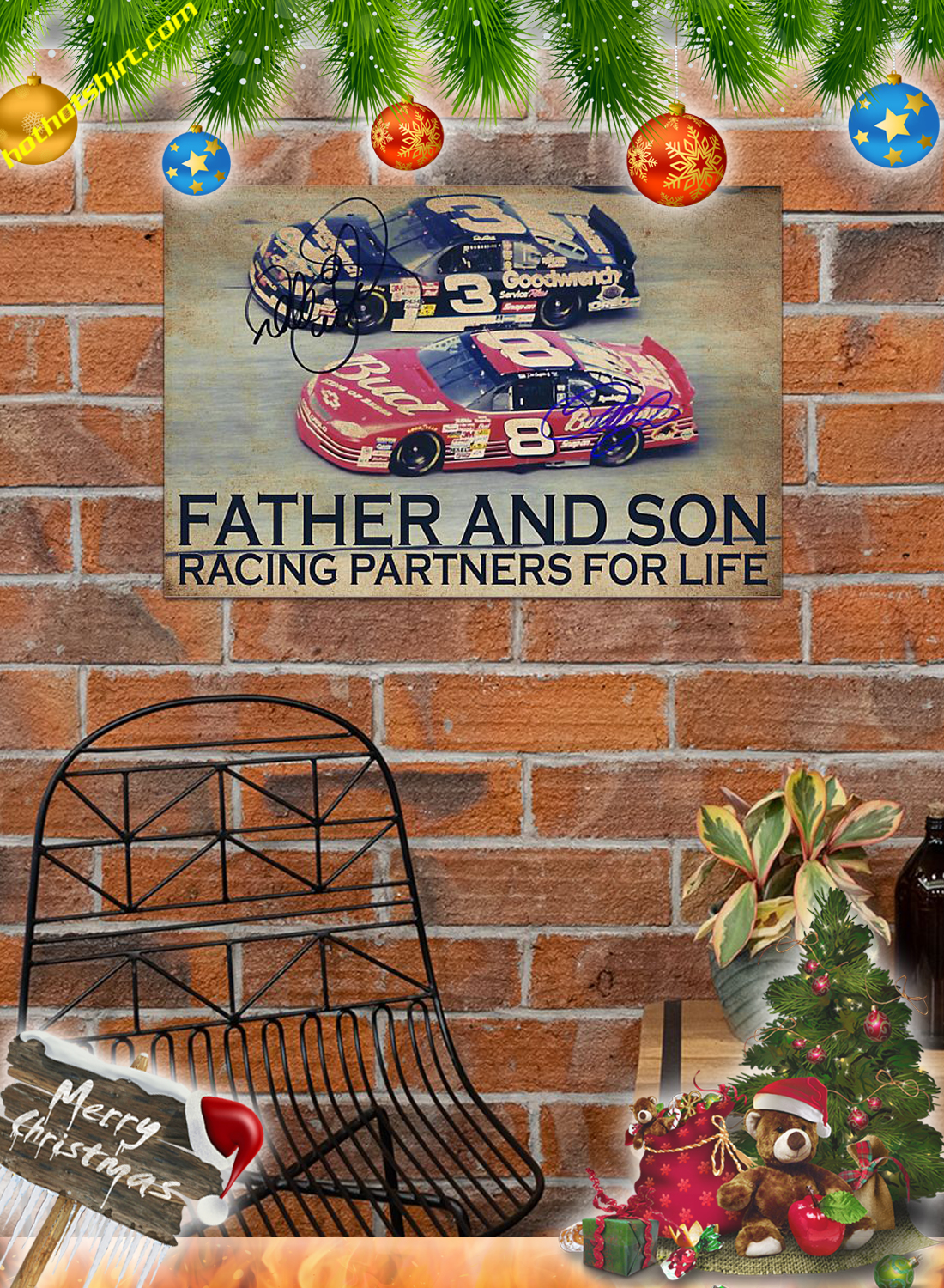 Father and son racing partners for life poster 2