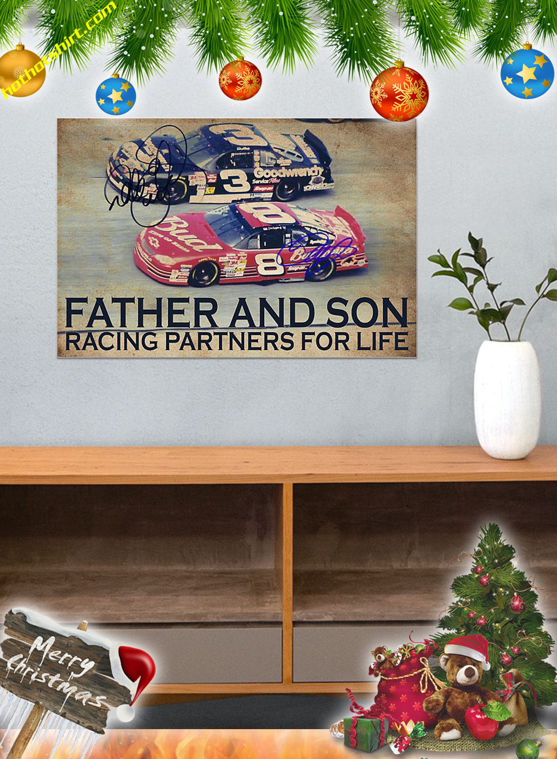 Father and son racing partners for life poster 3