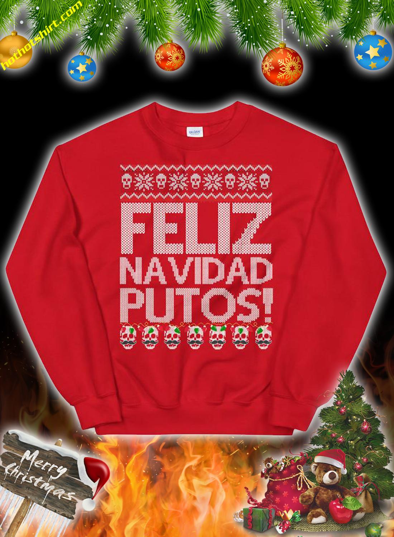 Feliz navidad putos skull ugly christmas sweater 2