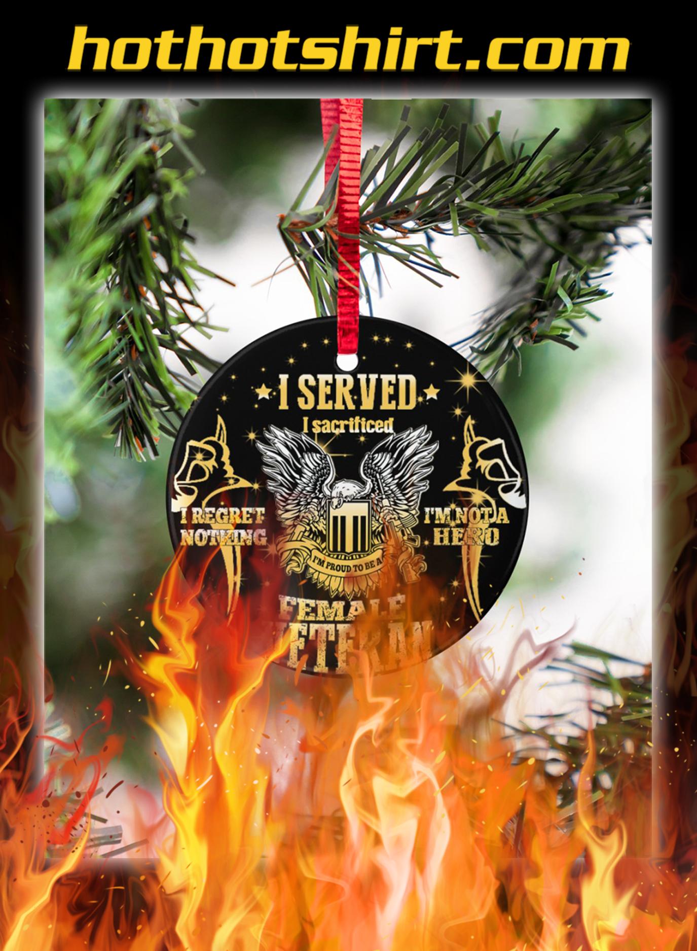 Female veteran I served ornaments- pic 1