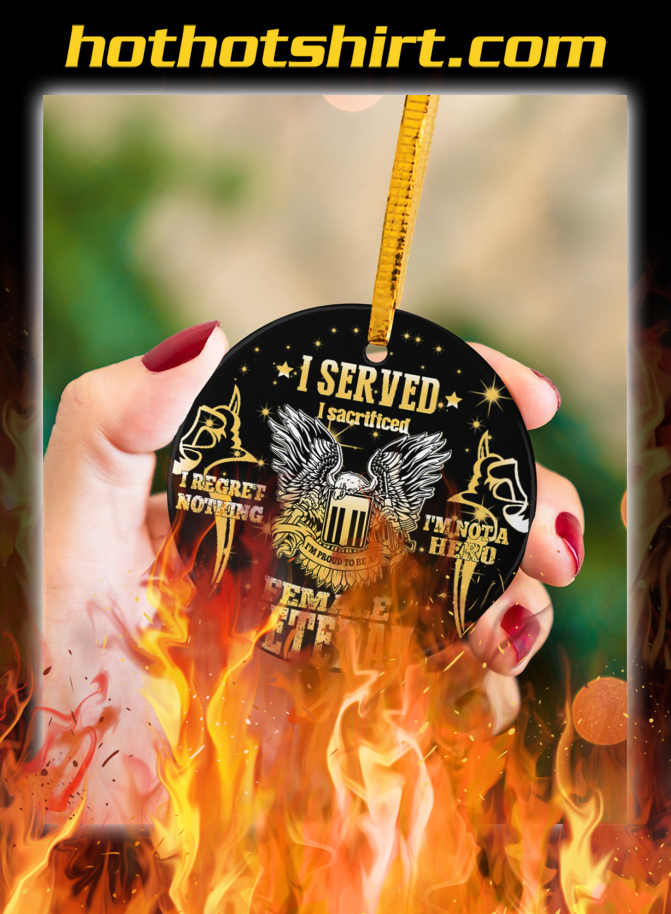 Female veteran I served ornaments- pic 3