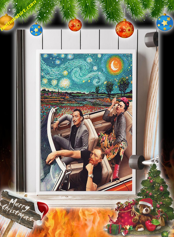 Frida Kahlo Banksy Salvador Dali Poster 2