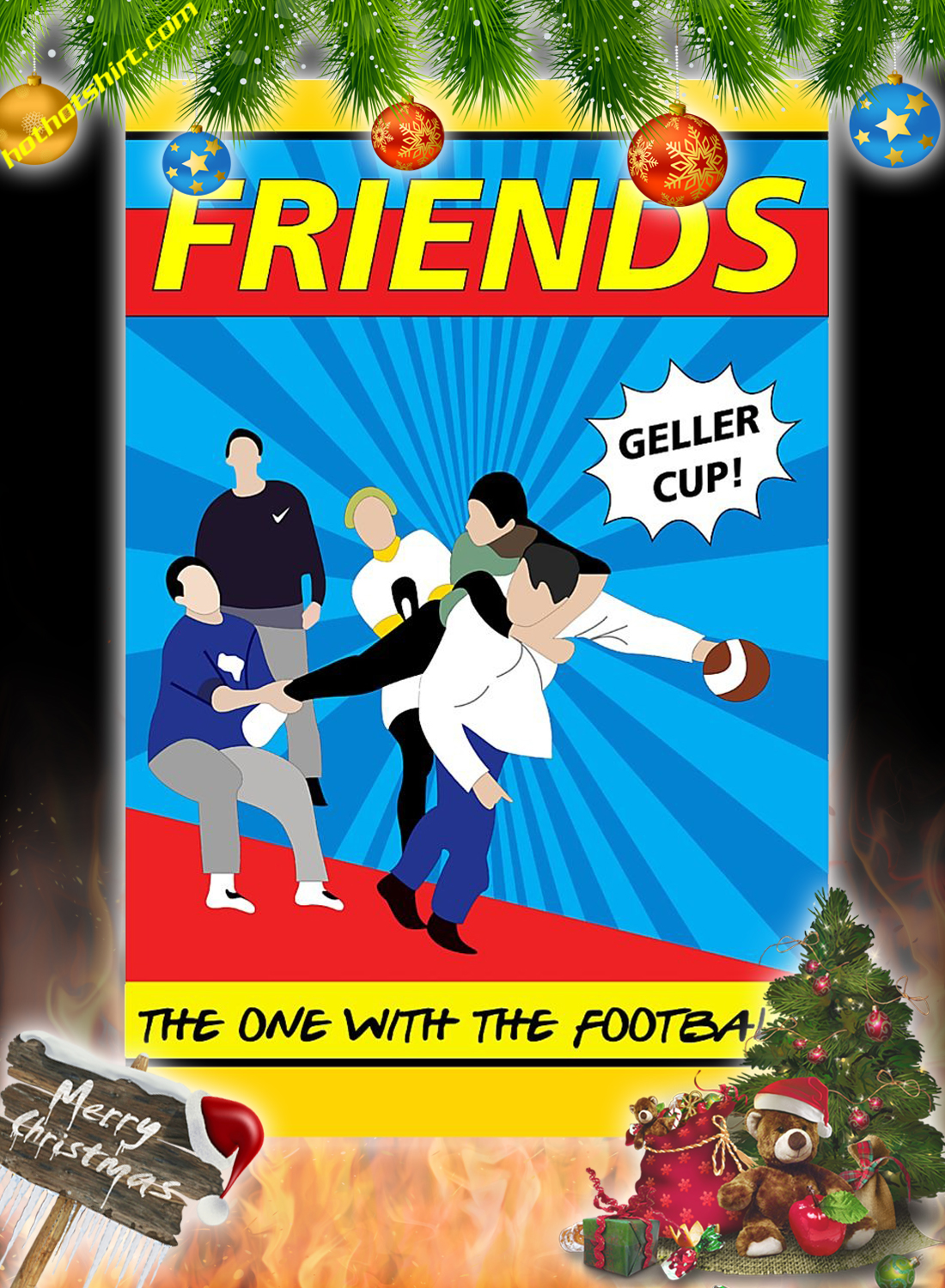 Friends the one with the football poster 2