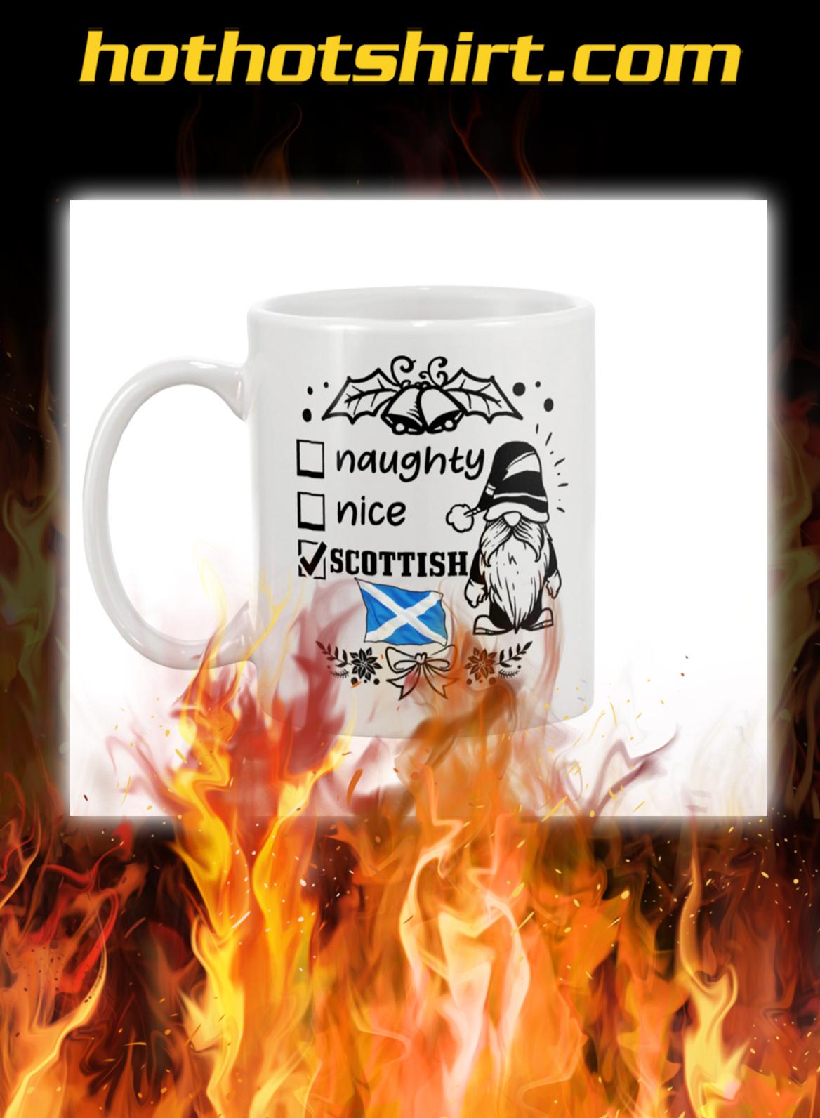 Gnomie Naughty nice scottish mug- pic 1
