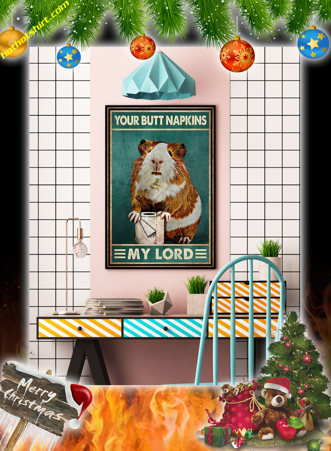 Hamster your butt napkins my lord poster 3