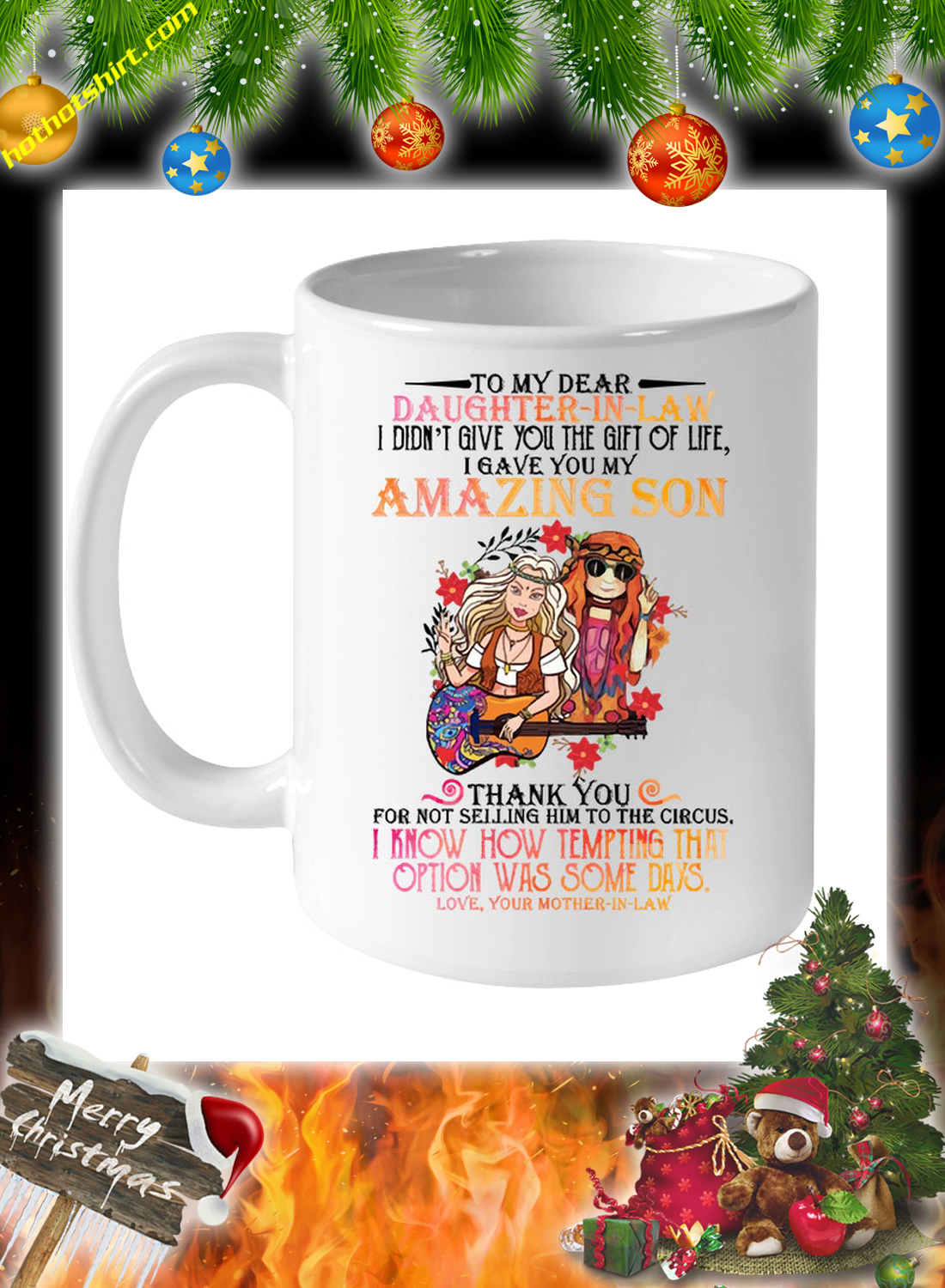 Hippie To my dear daughter in law mother in law mug 1