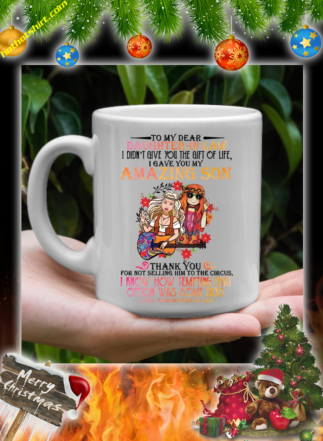 Hippie To my dear daughter in law mother in law mug 2