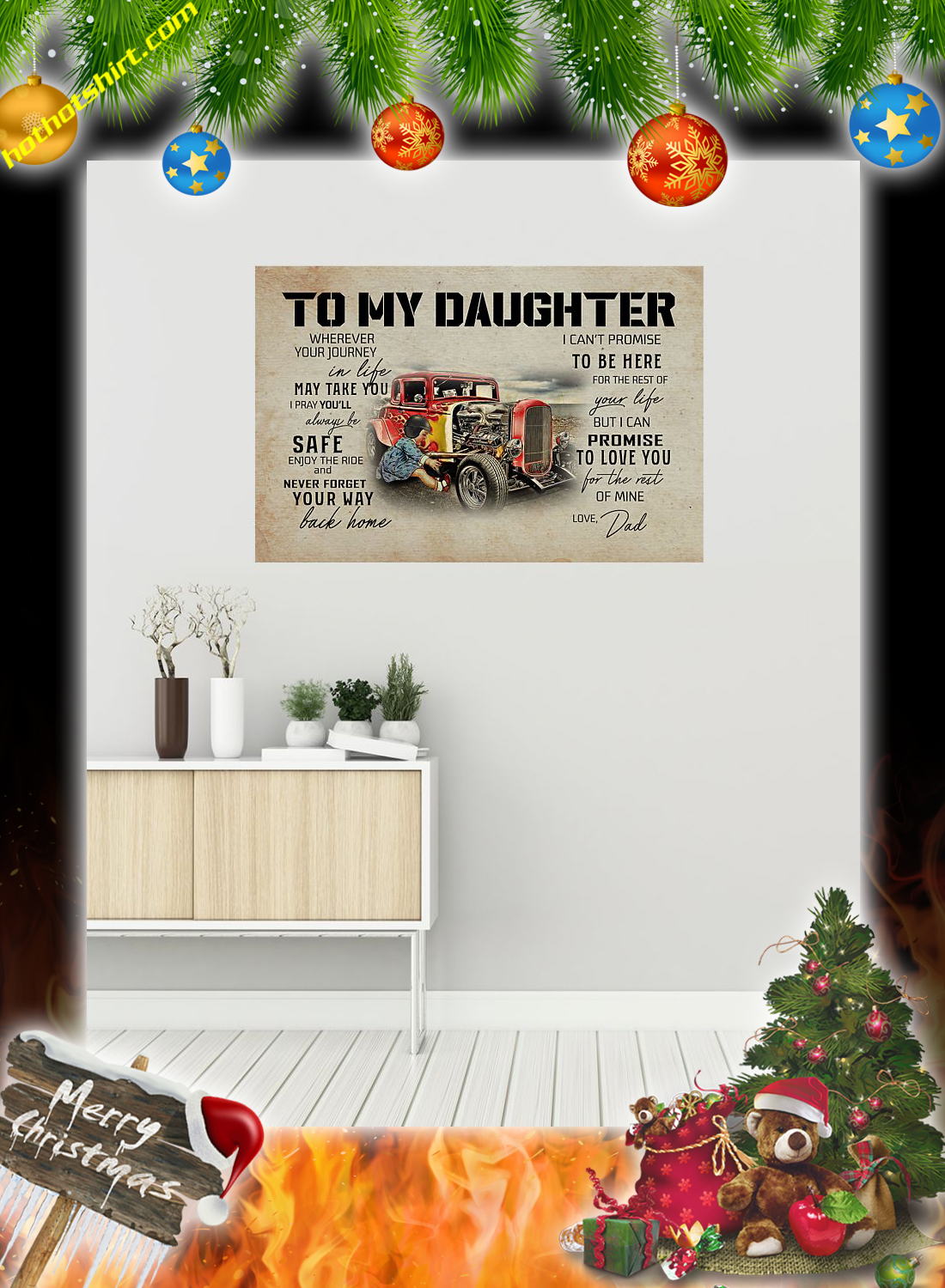 Hot rod To my daughter dad poster 1