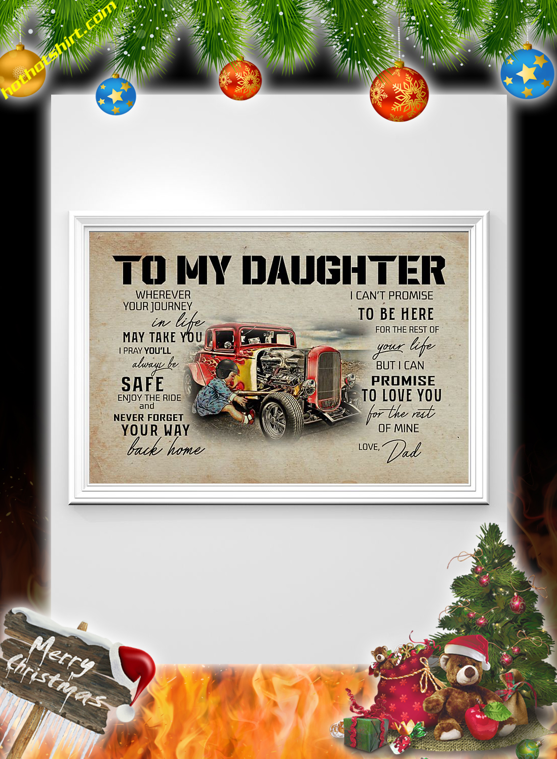 Hot rod To my daughter dad poster 2