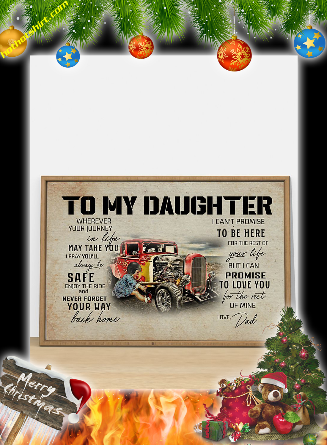 Hot rod To my daughter dad poster 3