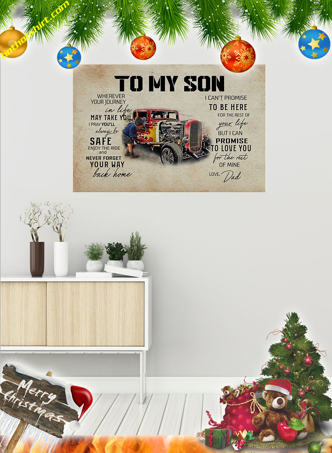 Hot rod To my son dad poster 1