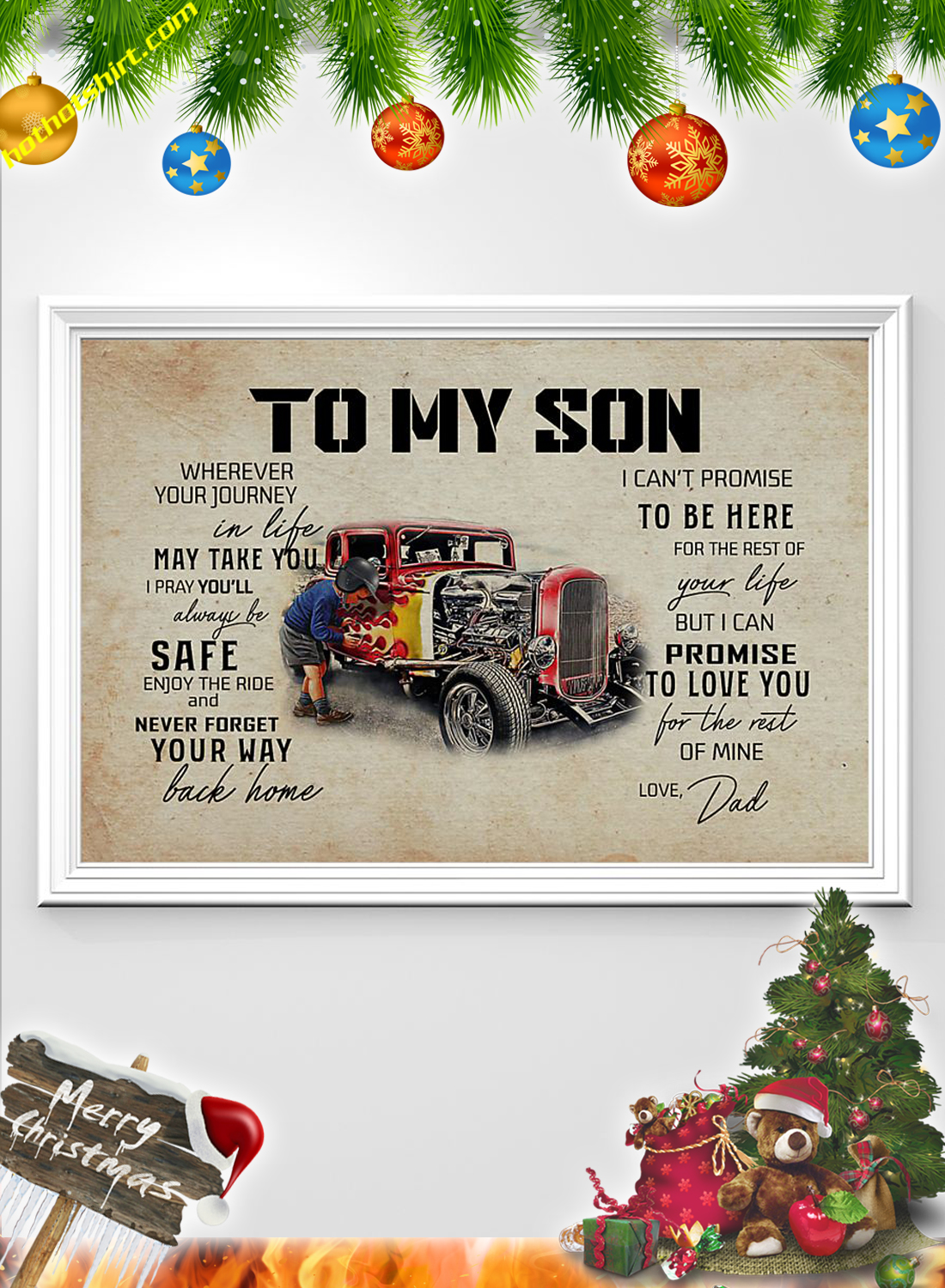 Hot rod To my son dad poster 2