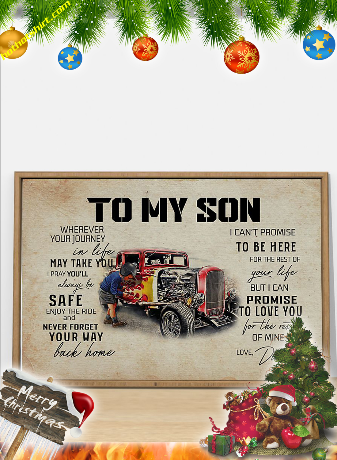 Hot rod To my son dad poster 3