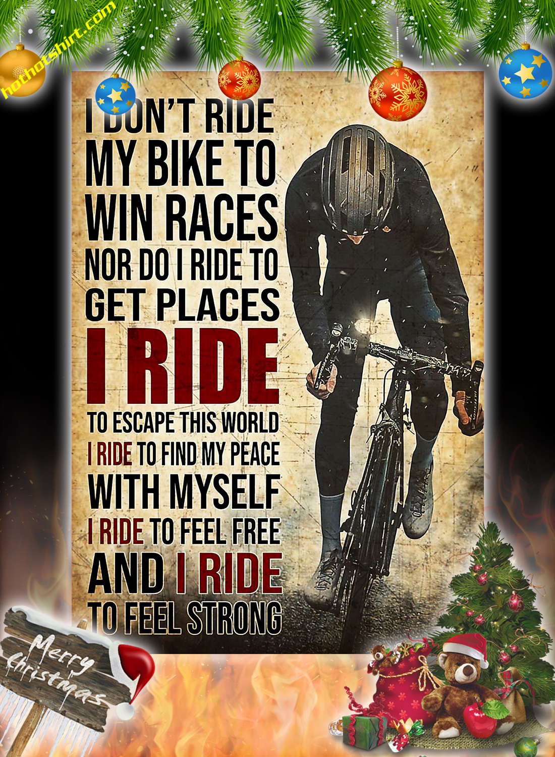 I Don't Ride My Bike To Win Races Poster And Canvas 1
